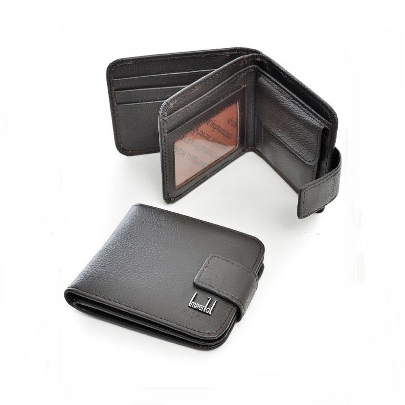 Коричневый мужской бумажник «Imperial Horse» из качественной натуральной кожи купить. Цена 399 грн