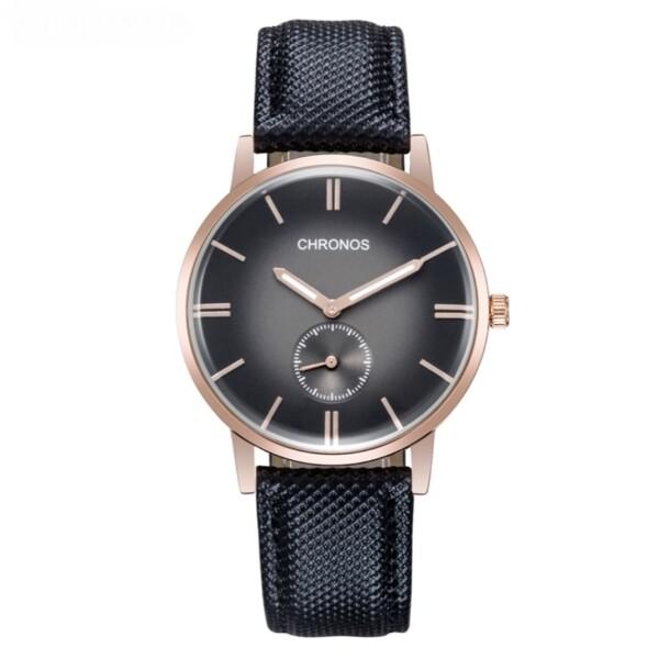 Благородные часы «Chronos» в ретро-стиле с качественным кварцевым механизмом купить. Цена 880 грн
