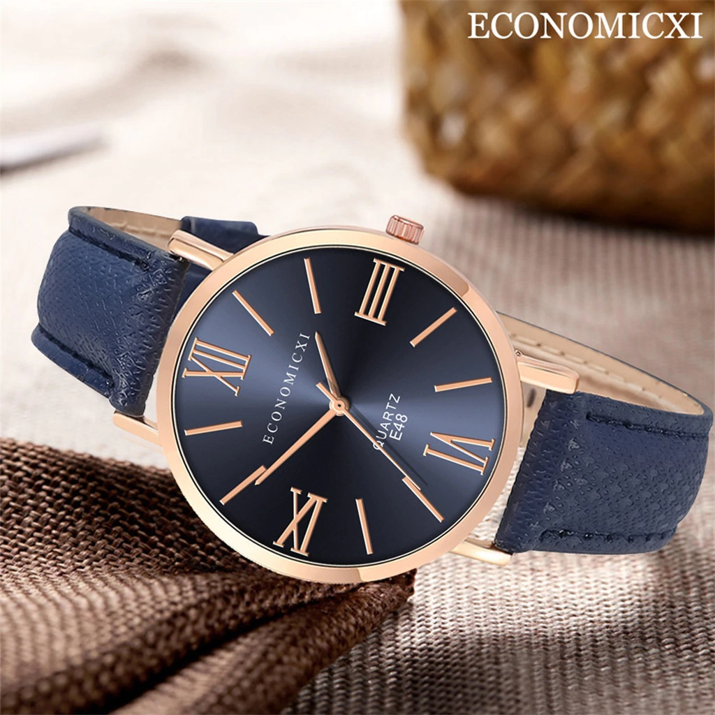 Стильные женские часы «Economicxi» с римскими цифрами на синем циферблате купить. Цена 299 грн