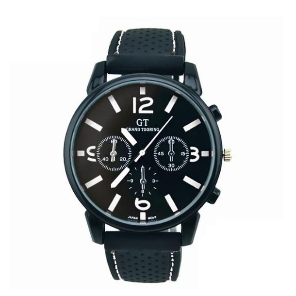 Популярные часы «Grand Touring» с чёрным силиконовым ремешком купить. Цена 265 грн