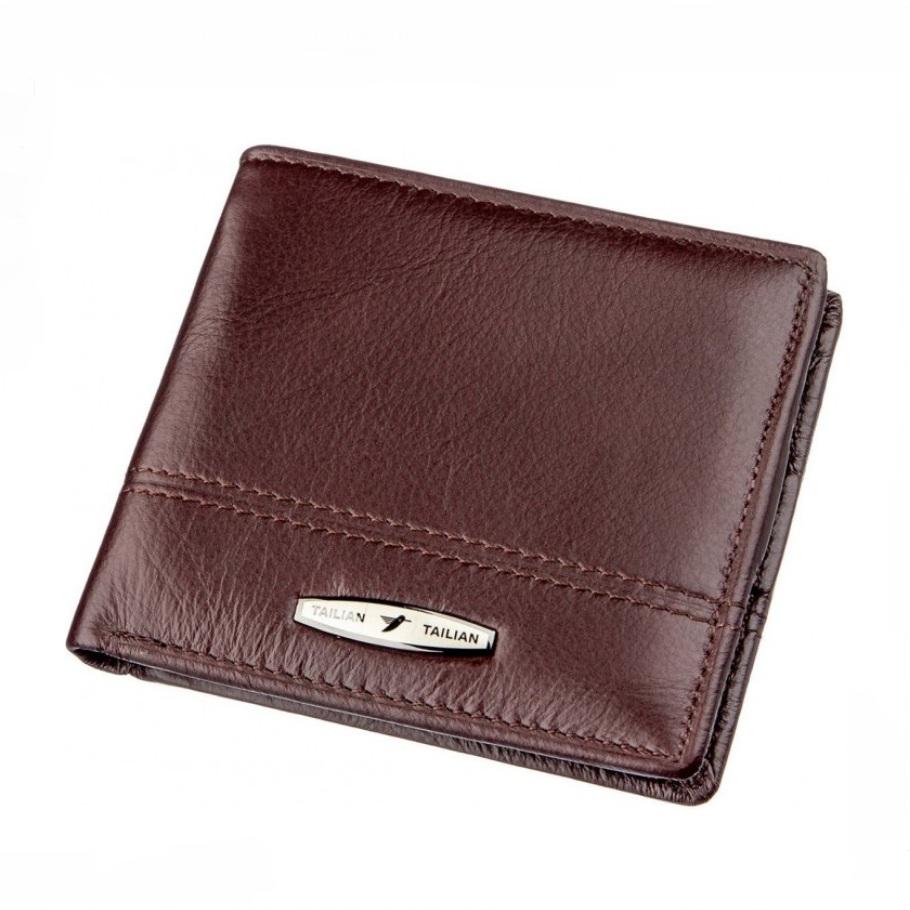 Качественный бумажник «Tailian» на кнопке из мягкой коричневой кожи купить. Цена 599 грн