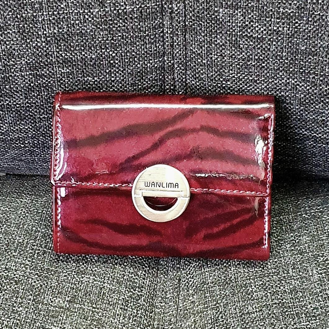 Элитный кошелёк «Wanlima» из натуральной лаковой кожи высокого качества купить. Цена 890 грн
