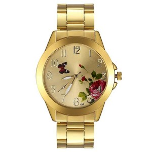 Обворожительные часы «Dgjud» золотого цвета с красивым рисунком на циферблате купить. Цена 280 грн