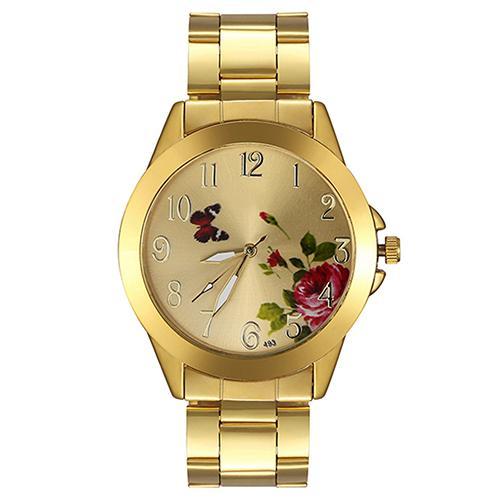Обворожительные часы «Dgjud» золотого цвета с красивым рисунком на циферблате купить. Цена 299 грн