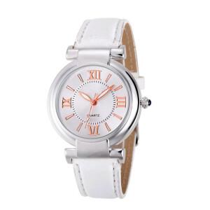 Классические женские часы «Geneva» с белым ремешком купить. Цена 199 грн