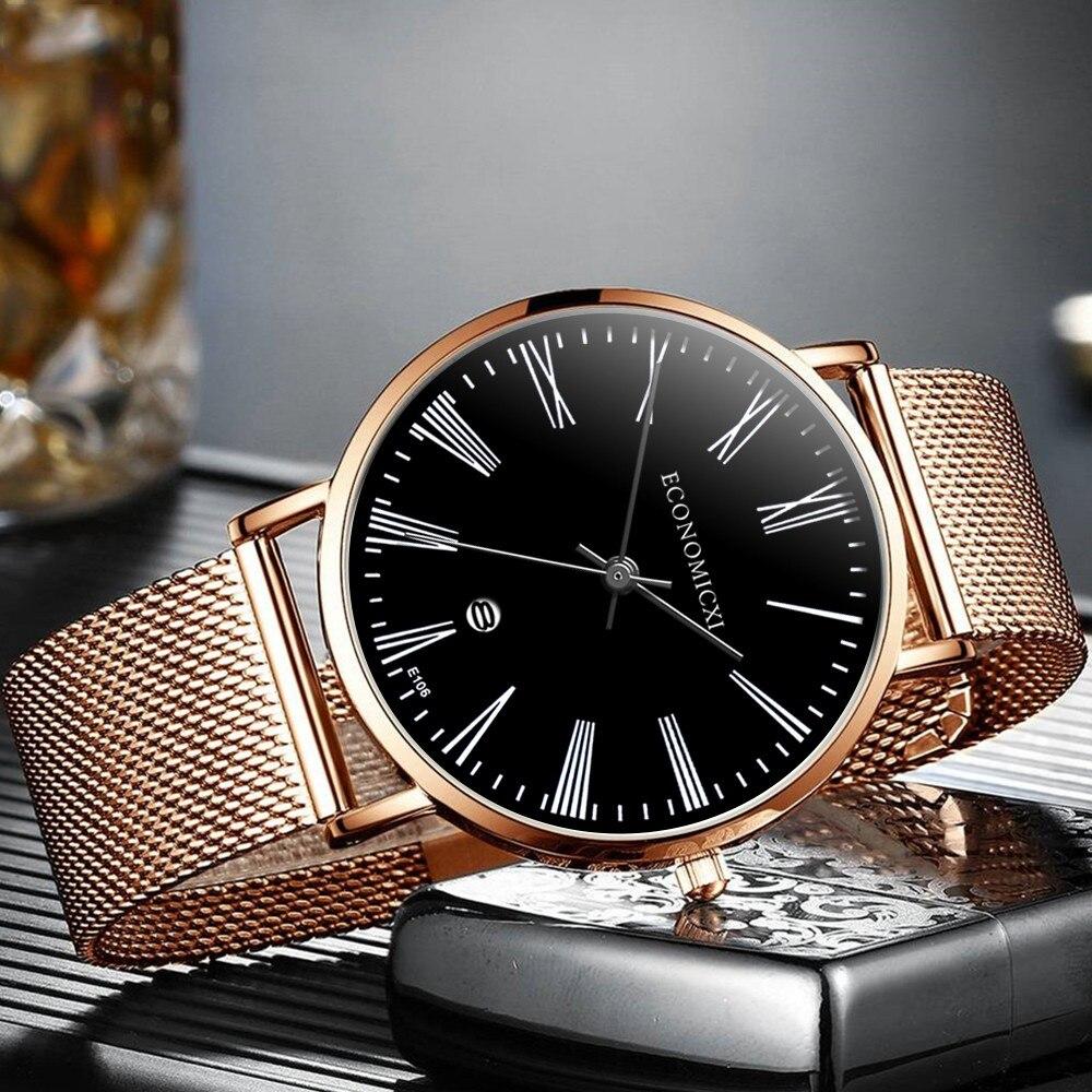 Классические мужские часы «Economicxi» с функцией даты и металлическим ремешком купить. Цена 375 грн