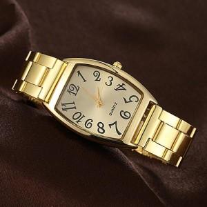 Металлические женские часы «YaWeiSi» золотого цвета в строгом деловом стиле купить. Цена 250 грн