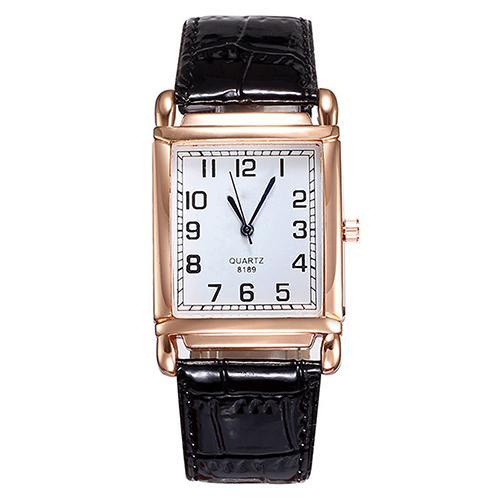 Прямоугольные женские часы «Geneva» в классическом стиле на чёрном лаковом ремешке купить. Цена 255 грн