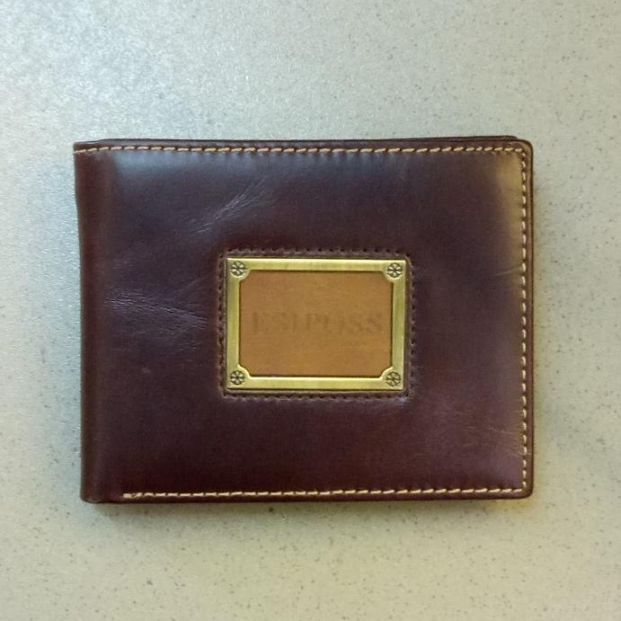 Крупный мужской бумажник «Esiposs» из гладкой натуральной кожи купить. Цена 685 грн