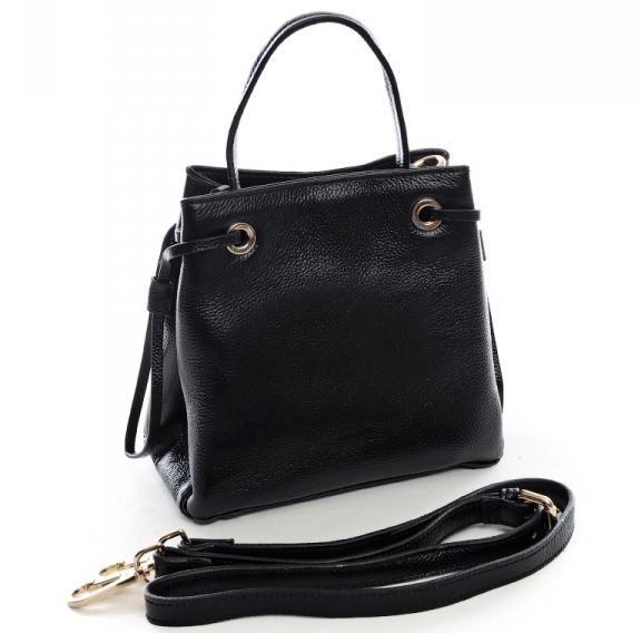 Небольшая кожаная сумка-кроссбоди «Baliya» в форме трапеции на длинном ремешке купить. Цена 1190 грн
