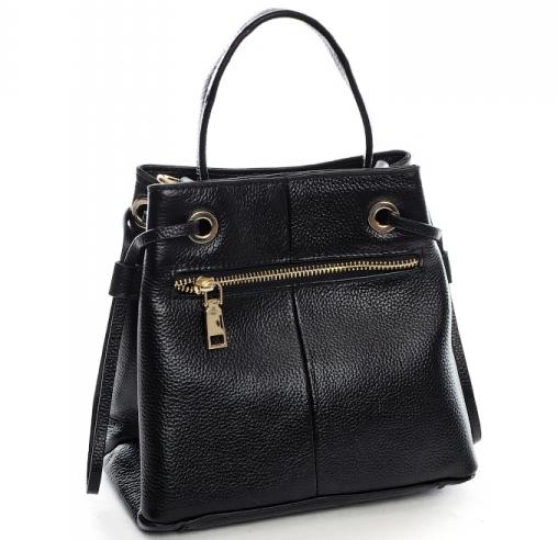 Небольшая кожаная сумка-кроссбоди «Baliya» в форме трапеции на длинном ремешке фото 1
