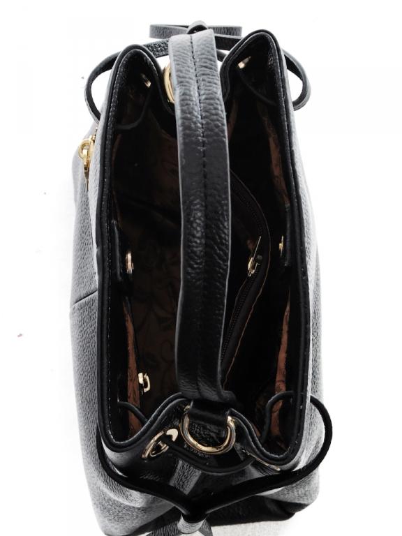 Небольшая кожаная сумка-кроссбоди «Baliya» в форме трапеции на длинном ремешке фото 2