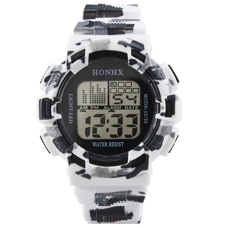 Надёжные часы «Honhx» камуфляжного цвета с подсветкой, календарём и будильником купить. Цена 265 грн