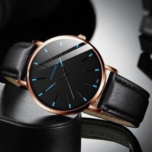 Лаконичные мужские часы «Economicxi» в стиле минимализм с чёрным циферблатом купить. Цена 260 грн