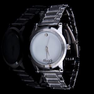 Элегантные часы «Sloggi» с белым циферблатом на красивом металлическом браслете фото. Купить
