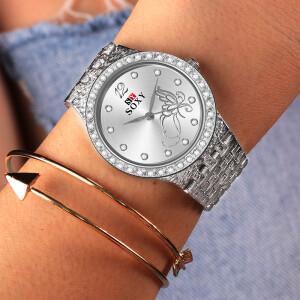 Женские часы «SOXY» серебристого цвета с красивым браслетом купить. Цена 360 грн