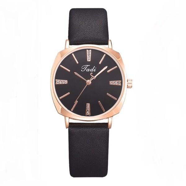 Стильные женские часы «Jadi» лаконичного дизайна с чёрным ремешком купить. Цена 385 грн