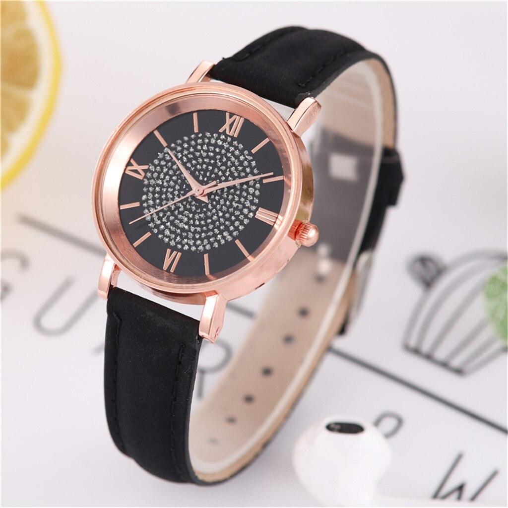 Симпатичные часы «Quartz» с мелкими блестяшками на чёрном циферблате купить. Цена 225 грн
