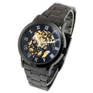 Чёрные механические часы «Dushidai» с металлическим браслетом купить. Цена 899 грн