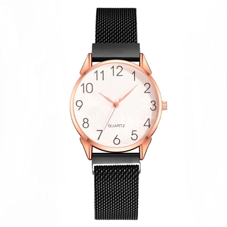 Круглые женские часы «Quartz» с арабскими цифрами и ремешком на магните купить. Цена 385 грн