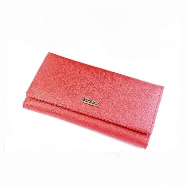 Облегчённый кошелёк «Kingplum» из натуральной кожи красного цвета купить. Цена 585 грн