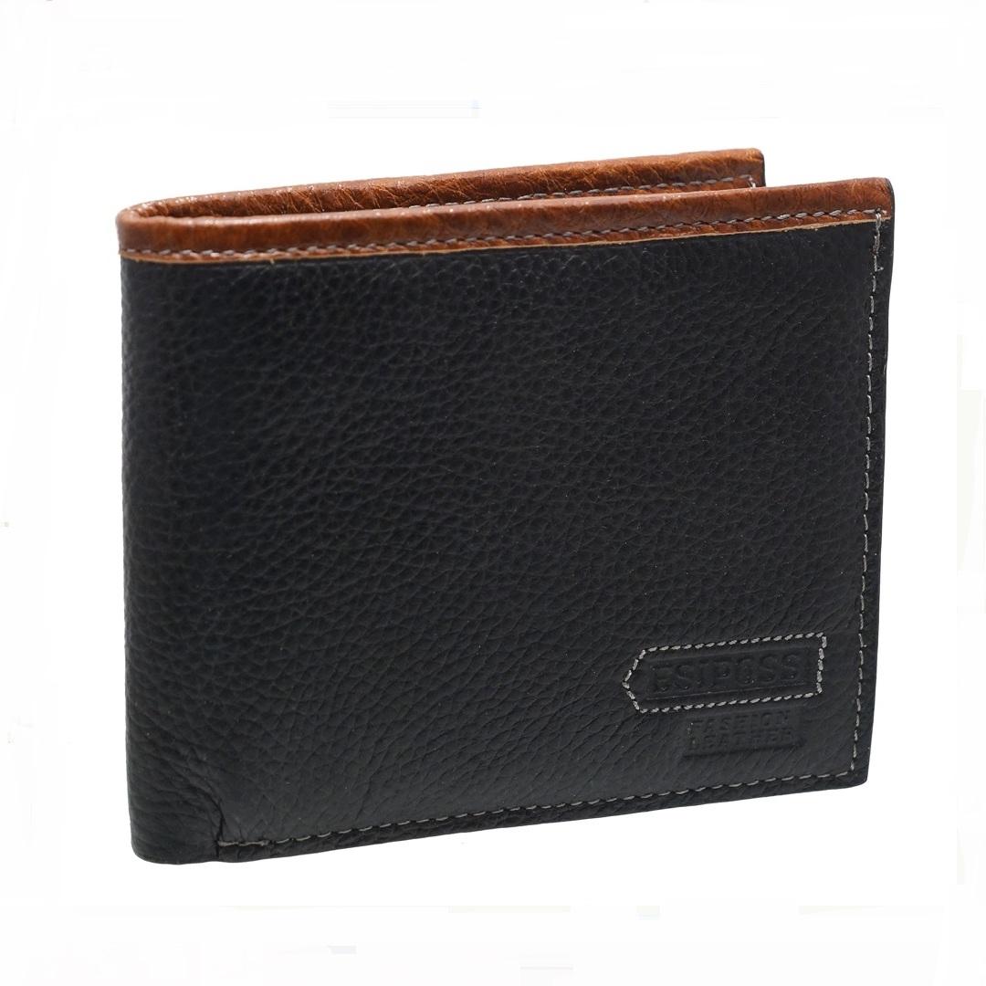 Оригинальный мужской бумажник «Esiposs» из чёрной кожи высокого качества купить. Цена 565 грн