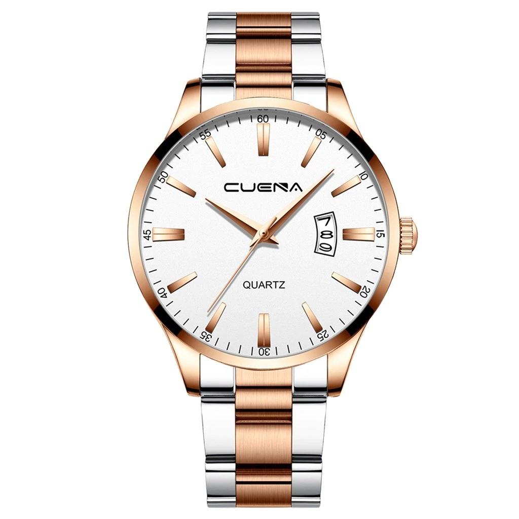 Качественные мужские часы «Cuena» с функцией даты и двухцветным браслетом купить. Цена 499 грн