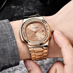 Деловые женские часы «Curdden» медного цвета с металлическим браслетом купить. Цена 799 грн