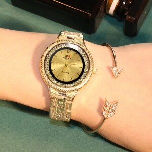 Отличные часы «SOXY» с корпусом из жёлтого металла с красивым браслетом купить. Цена 375 грн