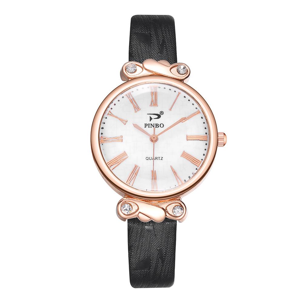 Стильные часы «Pinbo» с римскими цифрами на белом цифербате купить. Цена 275 грн