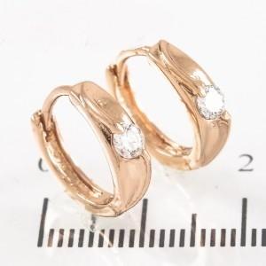 Малюсенькие серьги «Обаяшки» с маленьким камнем и золотым покрытием купить. Цена 89 грн