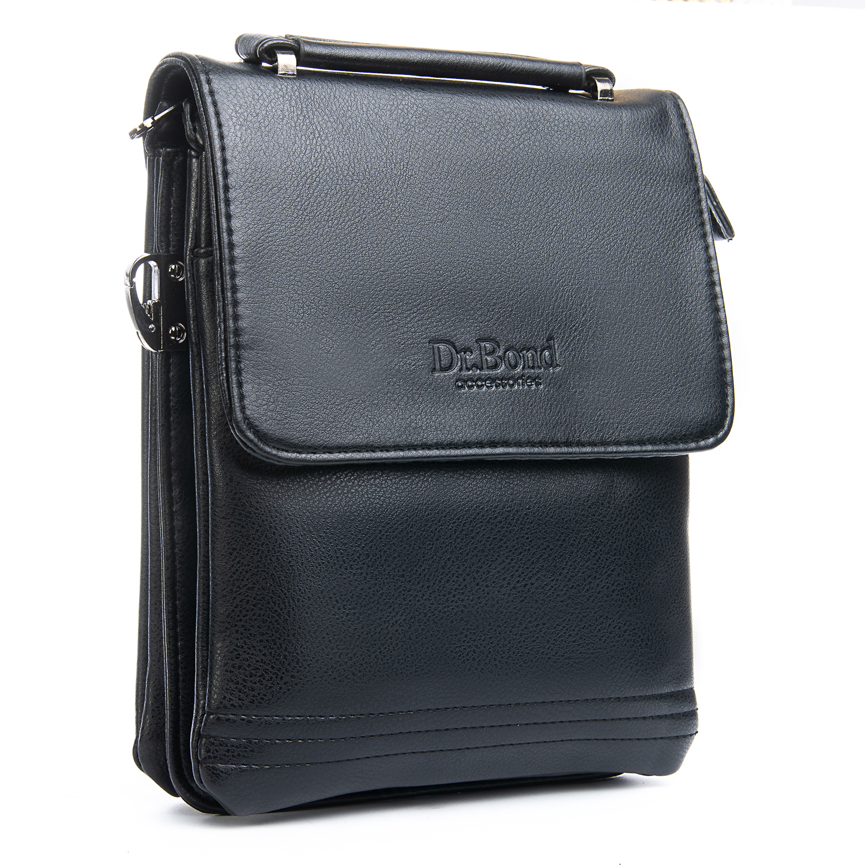 Среднего размера сумка «Dr.Bond» из качественной экокожи чёрного цвета купить. Цена 575 грн