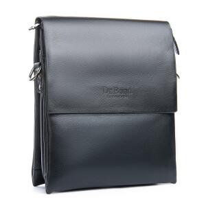 Гладкая мужская сумка-планшет «Dr.Bond» среднего размера из чёрной экокожи купить. Цена 599 грн