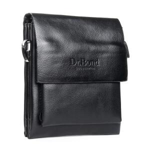 Маленькая мужская сумка «Dr.Bond» с клапаном из кожи и длинным плечевым ремнём фото. Купить