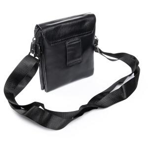 Маленькая мужская сумка «Dr.Bond» с клапаном из кожи и длинным плечевым ремнём фото 1