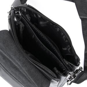 Маленькая мужская сумка «Dr.Bond» с клапаном из кожи и длинным плечевым ремнём фото 2