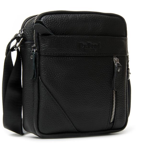 Практичная мужская сумка «Dr.Bond» из чёрной натуральной кожи купить. Цена 985 грн