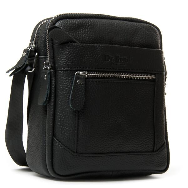 Кожаная мужская сумка «Dr.Bond» с отделениями на молнии купить. Цена 985 грн