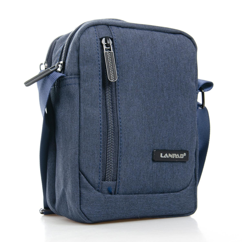 Синяя мужская сумка «Lanpad» из плотного и качественного нейлона купить. Цена 355 грн