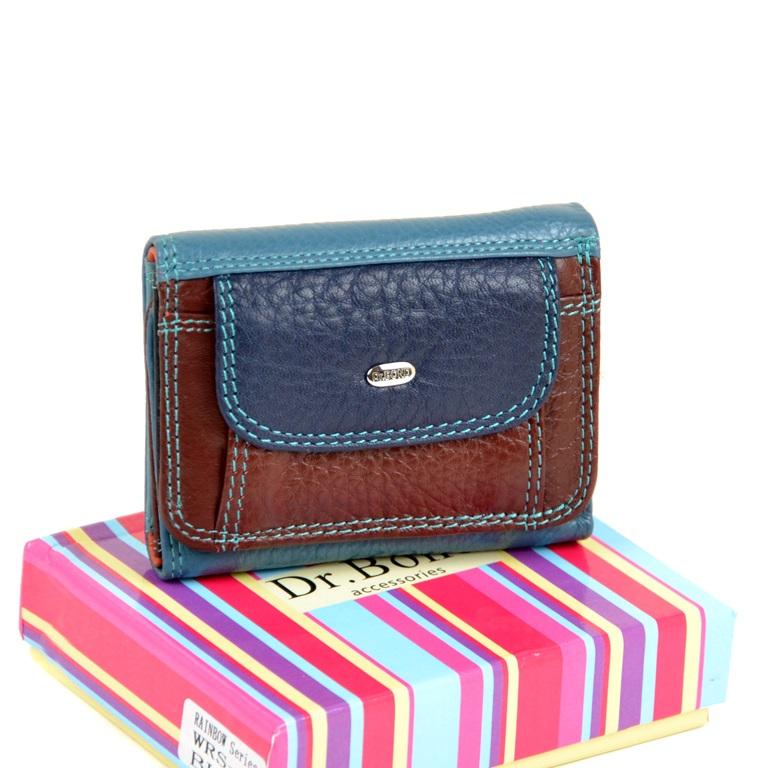 Ультракомпактный кошелёк «Dr.Bond» из разноцветных лоскутов натуральной кожи купить. Цена 499 грн