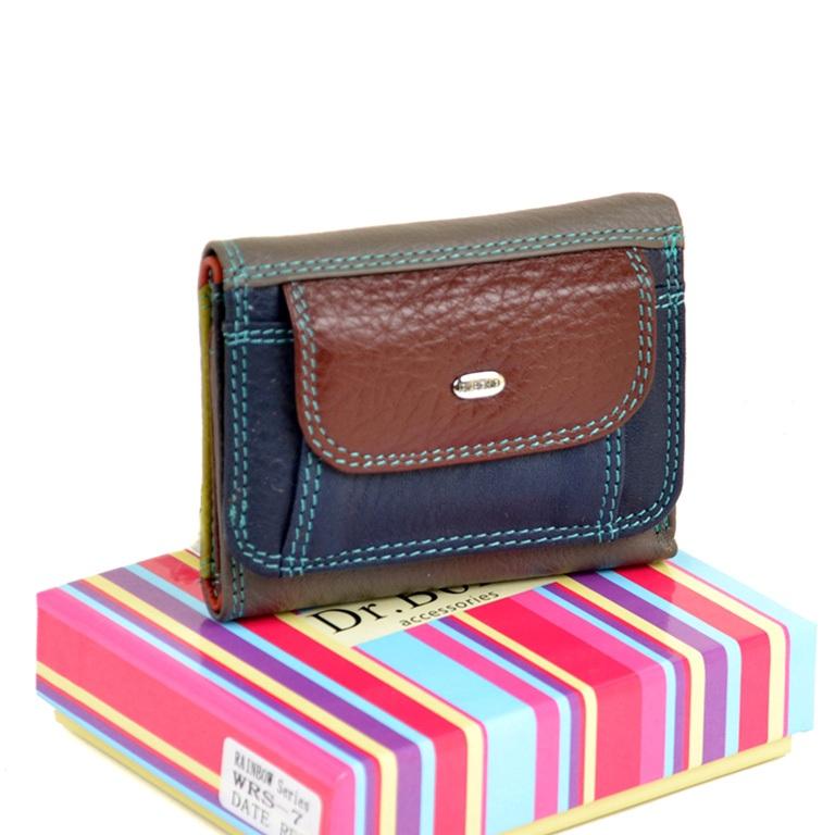 Разноцветный кошелёк «Dr.Bond» очень маленького размера из мягкой кожи купить. Цена 499 грн