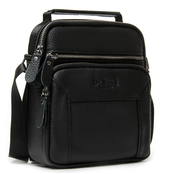 Строгая мужская сумка «Dr.Bond» из мягкой натуральной кожи чёрного цвета купить. Цена 950 грн