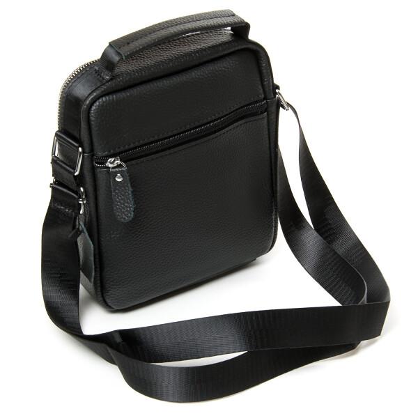 Строгая мужская сумка «Dr.Bond» из мягкой натуральной кожи чёрного цвета фото 1