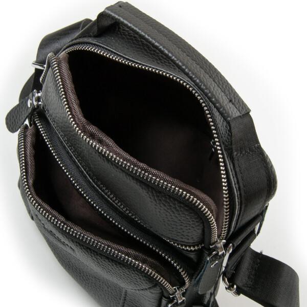 Строгая мужская сумка «Dr.Bond» из мягкой натуральной кожи чёрного цвета фото 2
