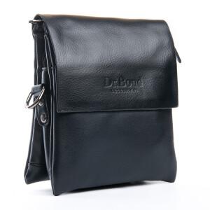 Мужская сумка «Dr.Bond» маленького размера из чёрной экокожи купить. Цена 499 грн
