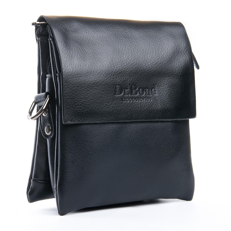 Мужская сумка «Dr.Bond» маленького размера из чёрной экокожи фото. Купить