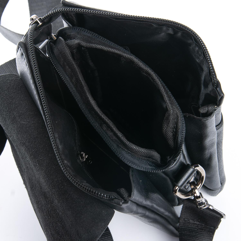 Мужская сумка «Dr.Bond» маленького размера из чёрной экокожи фото 2