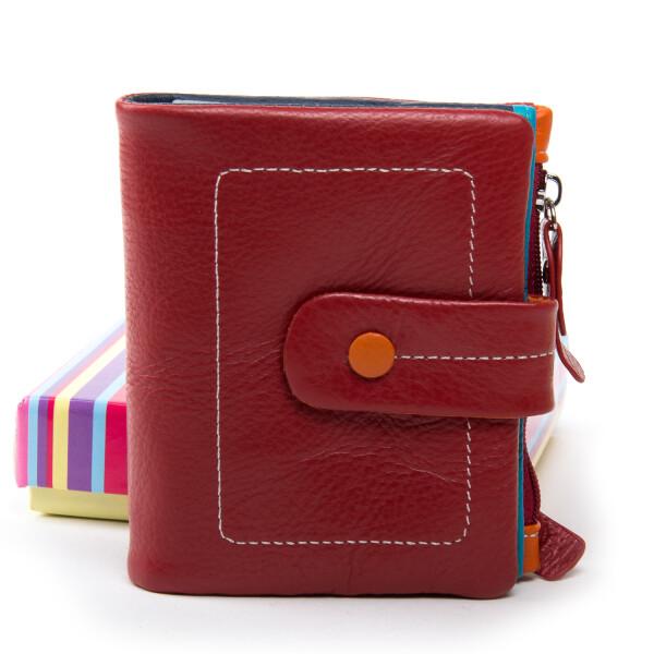 Яркий кошелёк «Dr.Bond» из натуральной мягкой кожи с разноцветной внутренностью купить. Цена 785 грн