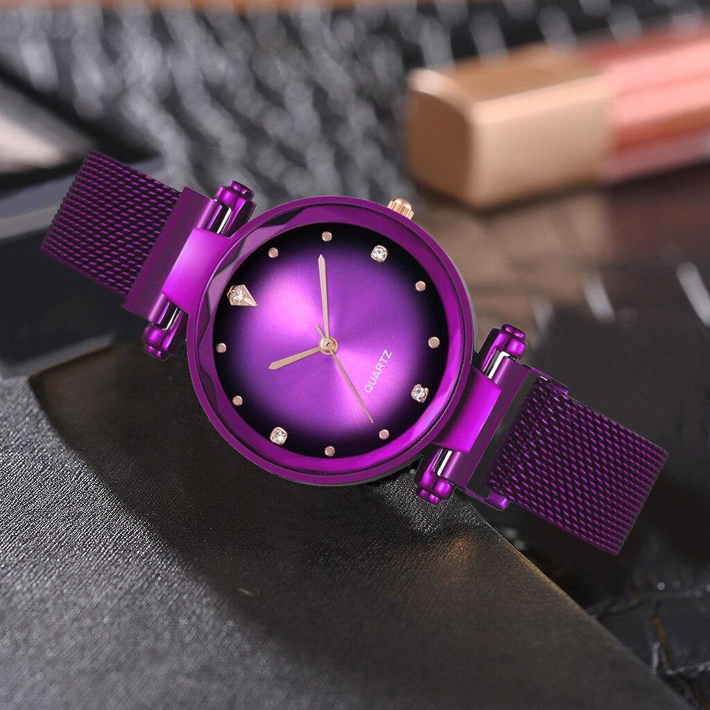 Фиолетовые часы «Vansvar» с металлическим ремешком на магнитной застёжке купить. Цена 375 грн