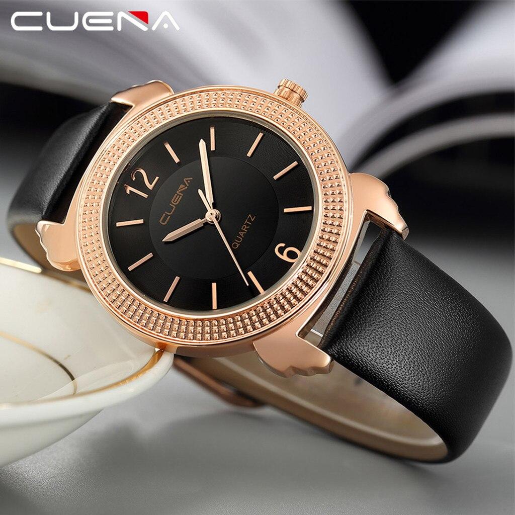 Интересные мужские часы «Cuena» с красивым корпусом и чёрным ремешком купить. Цена 390 грн